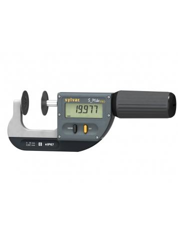 SYLVAC External Micrometer S_Mike PRO - Special Anvils IP67